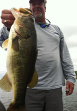 Corporate trip customer out with Bass Challenger Guide Service