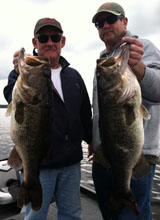 Corporate trip customers out with Bass Challenger Guide Service