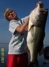 Curtis and his 12 lb bass