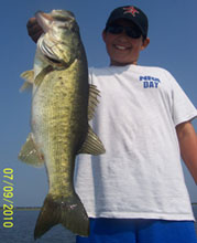 Client of Eddie Bussard in July fishing the St Johns River System