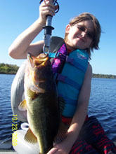 Young girl with her catch