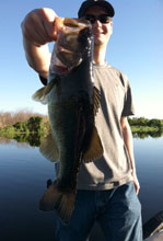 Client of Eddie Bussard fishing the St Johns River in Florida
