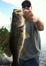 Client of Eddie Bussard fishing on the St Johns River System in central Florida