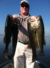 Gentleman fishing with Eddie Bussard on the St Johns River System