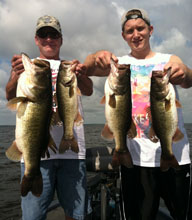 Clients fishing with Eddie Bussard on the St Johns River System in Florida