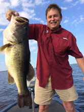12 lb St Johns Trophy Bass caught during the summer weather in Florida