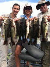 Happy anglers fishing with Eddie Bussard