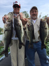 Rob and Dee from Ohio fishing with Eddie Bussard