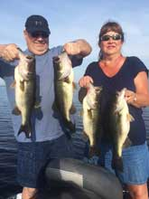 Couple fishing with Eddie Bussard