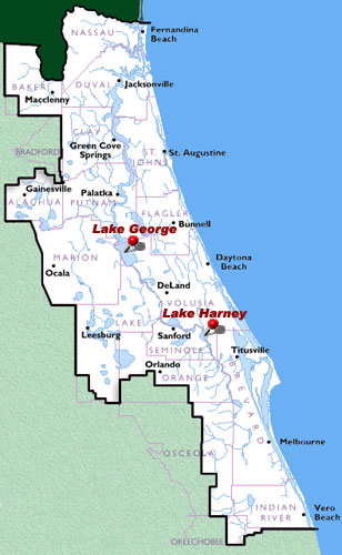 Lake George to Lake Harney on the St Johns River