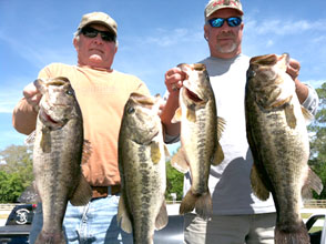 Corporate clients with their catch from one day on the water with Eddie Bussard